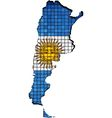 Argentina map with flag inside vector image vector image