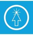 Arrow cursor sign icon vector image vector image