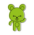 bear cute animal icon image vector image vector image