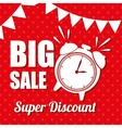 big sale super discount clock pennat polka dot vector image