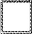 Black box braid vector image