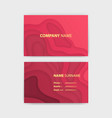 business card template with abstract realistic vector image vector image