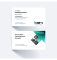 business card template with rectangles vector image vector image