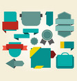 collection of blue stickers on vector image vector image