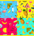 decorative colorful seamless patterns set vector image vector image
