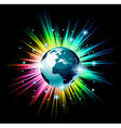 Earth globe 3d vector image