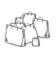 few bags for shopping vector image vector image