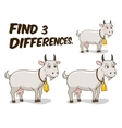 Find differences game goat vector image vector image