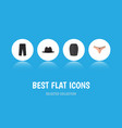 flat icon clothes set of lingerie panama stylish vector image vector image