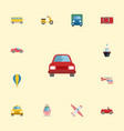 flat icons truck boat automobile and other vector image vector image