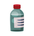 glass medicine bottle pharmaceutical container vector image