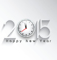 happy new year clock background 1711 vector image vector image
