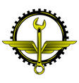 industry automotive car wrench tool gear engine vector image