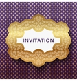 invitation card vintage background with place vector image