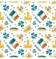 Ireland seamless pattern vector image