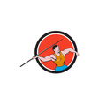 Javelin Throw Track and Field Circle Cartoon vector image vector image