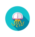 Jellyfish flat icon with long shadow vector image vector image