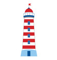 lighthouse on white background vector image vector image