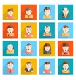 Man Faces Icons Flat vector image vector image
