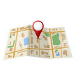 Map with red pointer vector image