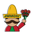 mexico culture icon image vector image vector image