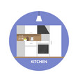 modern kitchen interior design icon vector image vector image