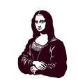 Mona lisa smile renaissance art vector image vector image