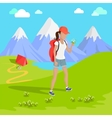 Mountain Tourism Concept vector image vector image