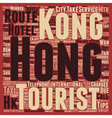 Must Know Travelers Tips to Hong Kong text vector image vector image