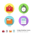 Office management icons set vector image vector image