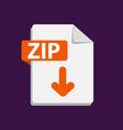 orange icon zip file format extensions vector image vector image