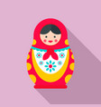 ornate nesting doll icon flat style vector image