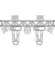 outline stage metal truss concert lighting vector image vector image