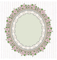 Oval frame in the Provence style vector image vector image