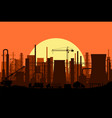 panoramic industrial silhouette landscape vector image