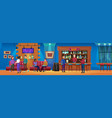 people on nightlife fun bar party vector image