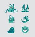 pixel art monsters 8bit ui game icons set