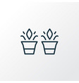 plant pots icon line symbol premium quality vector image