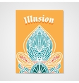 Poster whit hand drawn abstract pattern vector image