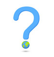 question word with eco globe globe vector image vector image