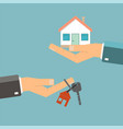 real estate concept buying or rent home hands vector image
