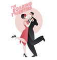 roaring twenties couple dancing charleston vector image vector image