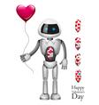 Robot With Balloon Heart vector image