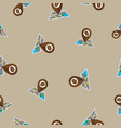 seamless pattern with coffee map pin vector image vector image