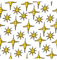 seamless pattern with various yellow stars vector image vector image