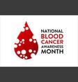 september is national blood cancer awareness month vector image vector image