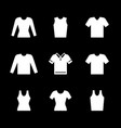 set icons t-shirt singlet long sleeve vector image vector image