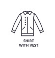 shirt with vest line icon outline sign linear vector image