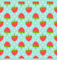 strawberry seamless pattern whit polka dots vector image vector image