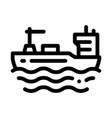 tanker at sea icon outline vector image vector image